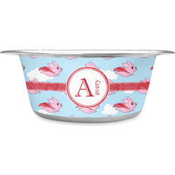 Flying Pigs Stainless Steel Pet Bowl (Personalized)