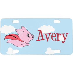 Flying Pigs Mini / Bicycle License Plate (Personalized)