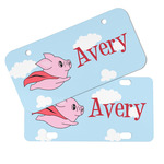 Flying Pigs Mini/Bicycle License Plates (Personalized)