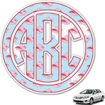 Flying Pigs Monogram Car Decal (Personalized)