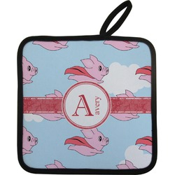 Flying Pigs Pot Holder w/ Name and Initial