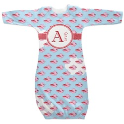 Flying Pigs Newborn Gown - 3-6 (Personalized)