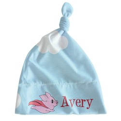 Flying Pigs Newborn Hat - Knotted (Personalized)
