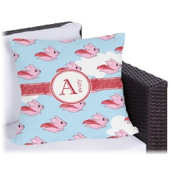 """Flying Pigs Outdoor Pillow - 26"""" (Personalized)"""
