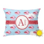Flying Pigs Outdoor Throw Pillow (Rectangular) (Personalized)