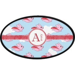 Flying Pigs Oval Trailer Hitch Cover (Personalized)