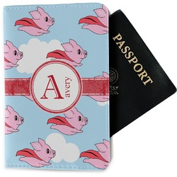 Flying Pigs Passport Holder - Fabric (Personalized)