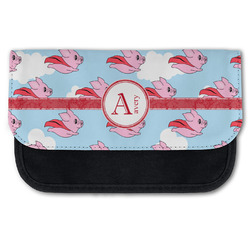 Flying Pigs Canvas Pencil Case w/ Name and Initial