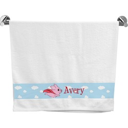 Flying Pigs Bath Towel (Personalized)