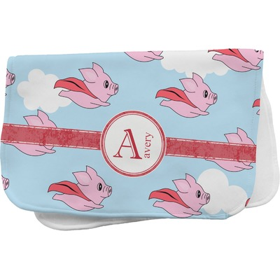 Flying Pigs Burp Cloth (Personalized)