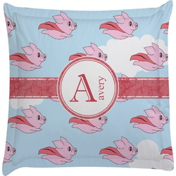 Flying Pigs Euro Sham Pillow Case (Personalized)