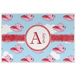 Flying Pigs Laminated Placemat w/ Name and Initial