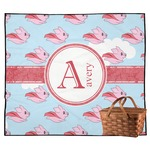Flying Pigs Outdoor Picnic Blanket (Personalized)