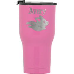 Flying Pigs RTIC Tumbler - Pink (Personalized)
