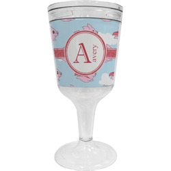 Flying Pigs Wine Tumbler - 11 oz Plastic (Personalized)