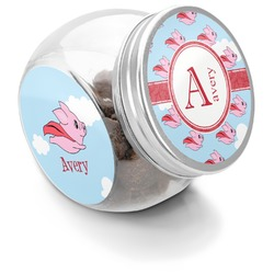 Flying Pigs Puppy Treat Jar (Personalized)
