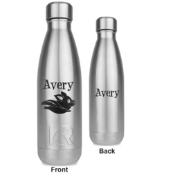 Flying Pigs RTIC Bottle - Silver - Engraved Front & Back (Personalized)