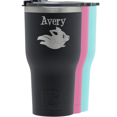 Flying Pigs RTIC Tumbler - Black (Personalized)