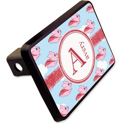 """Flying Pigs Rectangular Trailer Hitch Cover - 2"""" (Personalized)"""