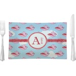 Flying Pigs Glass Rectangular Lunch / Dinner Plate - Single or Set (Personalized)
