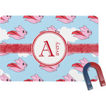 Flying Pigs Rectangular Fridge Magnet (Personalized)