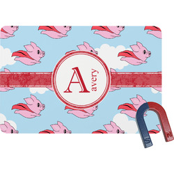 Flying Pigs Rectangular Fridge Magnet (Personalized)