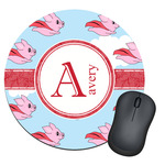 Flying Pigs Round Mouse Pad (Personalized)