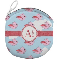 Flying Pigs Round Coin Purse (Personalized)
