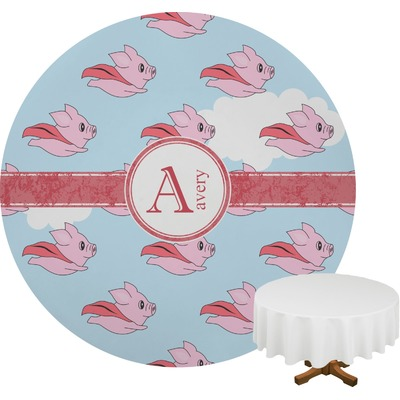 Flying Pigs Round Tablecloth (Personalized)