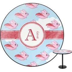 Flying Pigs Round Table (Personalized)