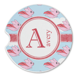Flying Pigs Sandstone Car Coaster - Single (Personalized)