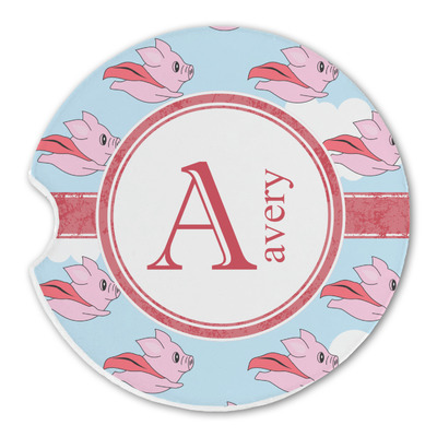 Flying Pigs Sandstone Car Coasters (Personalized)