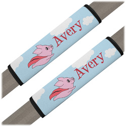 Flying Pigs Seat Belt Covers (Set of 2) (Personalized)