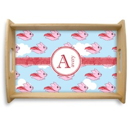 Flying Pigs Natural Wooden Tray (Personalized)