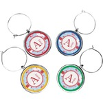 Flying Pigs Wine Charms (Set of 4) (Personalized)