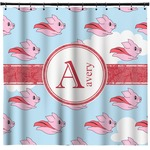 Flying Pigs Shower Curtain (Personalized)