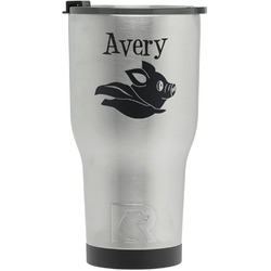 Flying Pigs RTIC Tumbler - Silver (Personalized)