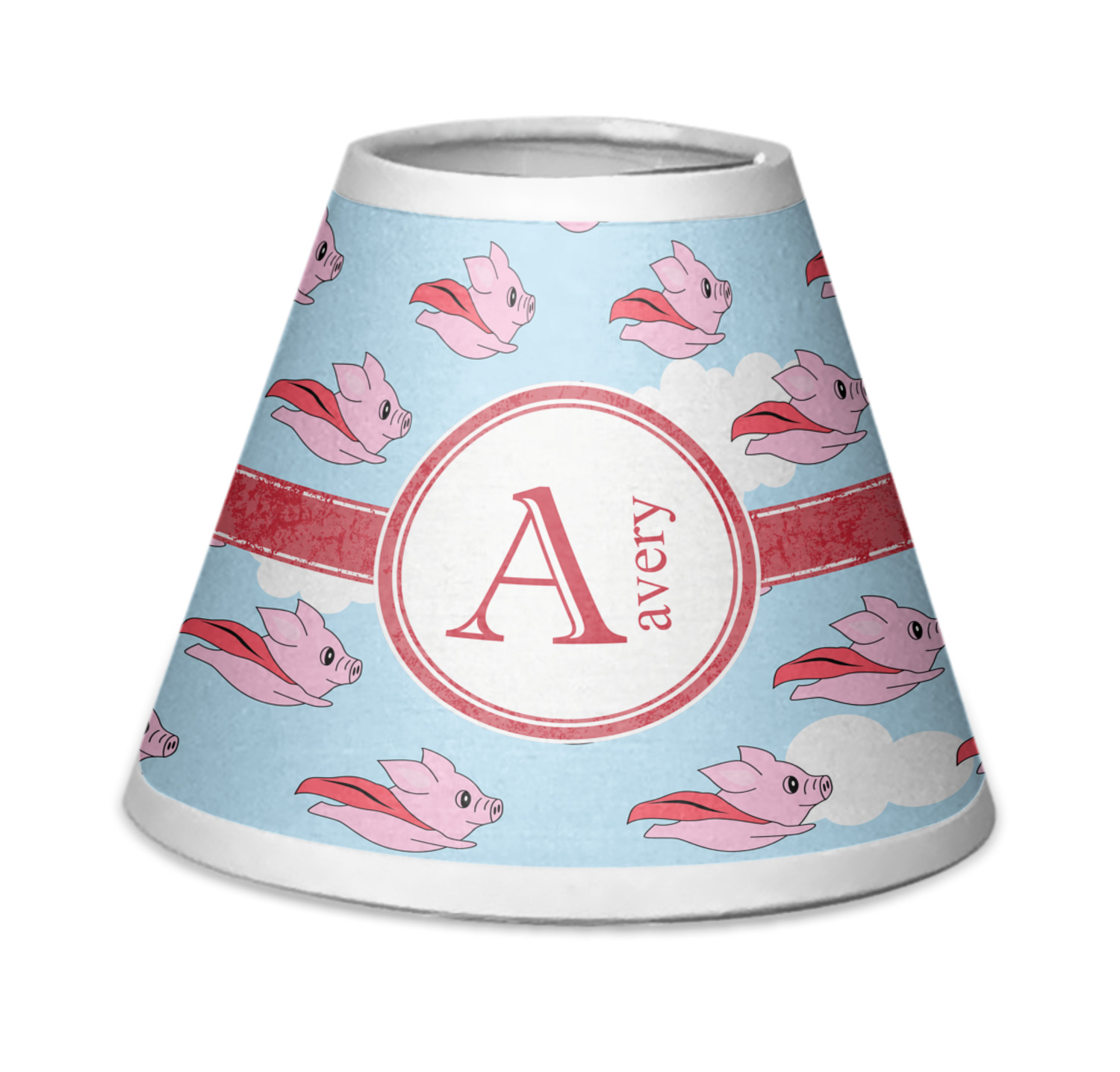Flying pigs chandelier lamp shade personalized youcustomizeit flying pigs chandelier lamp shade personalized arubaitofo Images