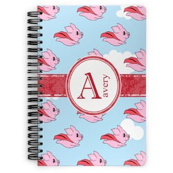 Flying Pigs Spiral Bound Notebook (Personalized)