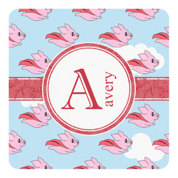 Flying Pigs Square Decal (Personalized)