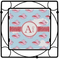 Flying Pigs Square Trivet (Personalized)