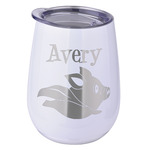 Flying Pigs Stemless Wine Tumbler - 5 Color Choices - Stainless Steel  (Personalized)
