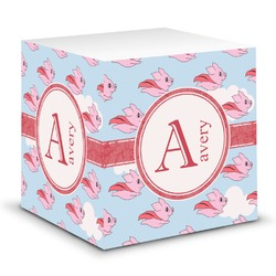 Flying Pigs Sticky Note Cube (Personalized)