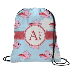 Flying Pigs Drawstring Backpack (Personalized)