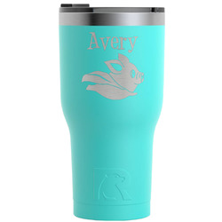 Flying Pigs RTIC Tumbler - Teal - Engraved Front (Personalized)
