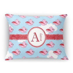 Flying Pigs Rectangular Throw Pillow (Personalized)