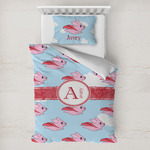 Flying Pigs Toddler Bedding w/ Name and Initial