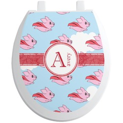 Flying Pigs Toilet Seat Decal (Personalized)