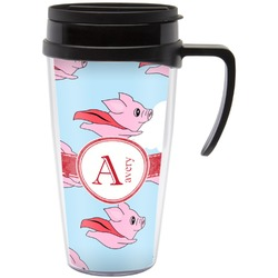 Flying Pigs Travel Mug with Handle (Personalized)