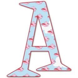 Flying Pigs Letter Decal - Custom Sizes (Personalized)
